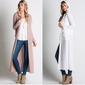 Hooded Sweater Duster STORE CLOSING SALE